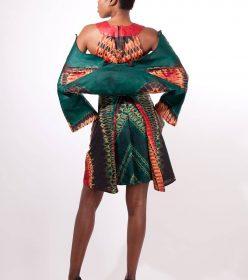 femme ensemble robe boléro Africouleur by Férouz