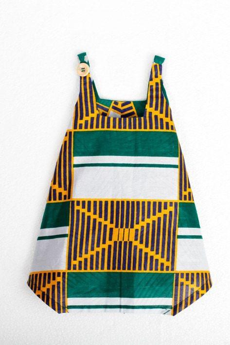 Robe fillette en tissu africain la petite fez africouleur for Boite africaine paris
