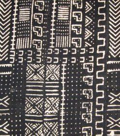 Bogolan noir et blanc