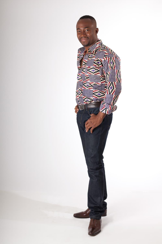 chemise africaine homme en wax africouleur. Black Bedroom Furniture Sets. Home Design Ideas