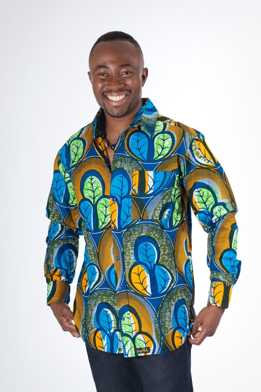 chemise africaine homme en wax africouleur