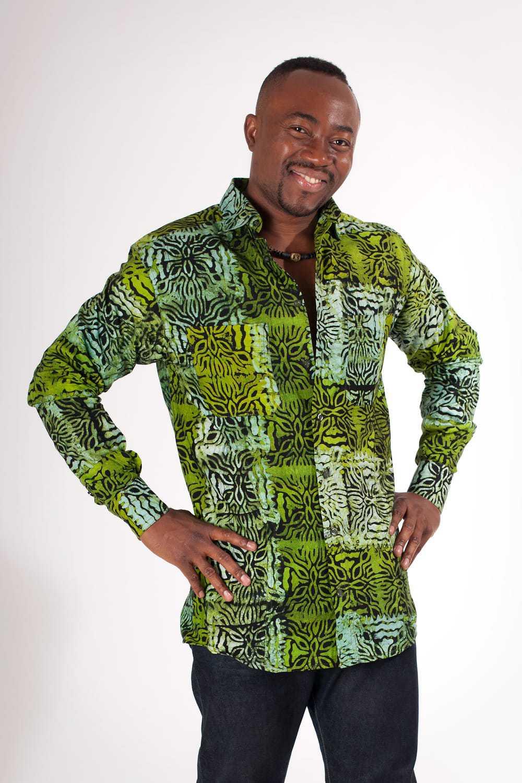 chemise homme batik ghana africouleur. Black Bedroom Furniture Sets. Home Design Ideas