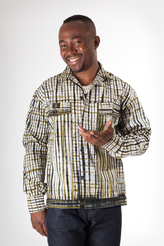 chemise ou blouson en tissu africain africouleur. Black Bedroom Furniture Sets. Home Design Ideas