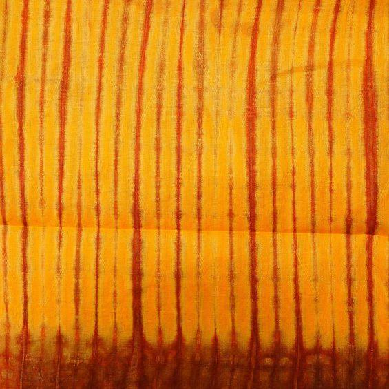 Tissu africain en bazin jaune soleil ocre et rouge motifs toffe africouleur - Couleur ocre jaune ...