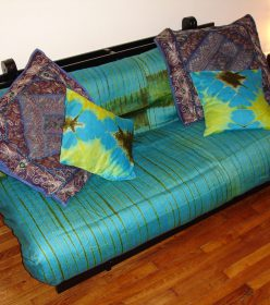 plaid turquoise Africouleur by Férouz