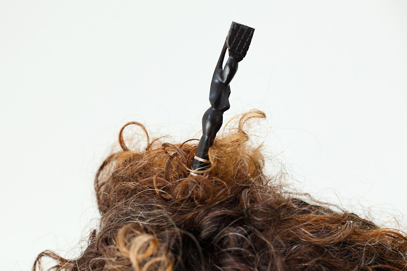 Morceaux de cheveux d'ébène