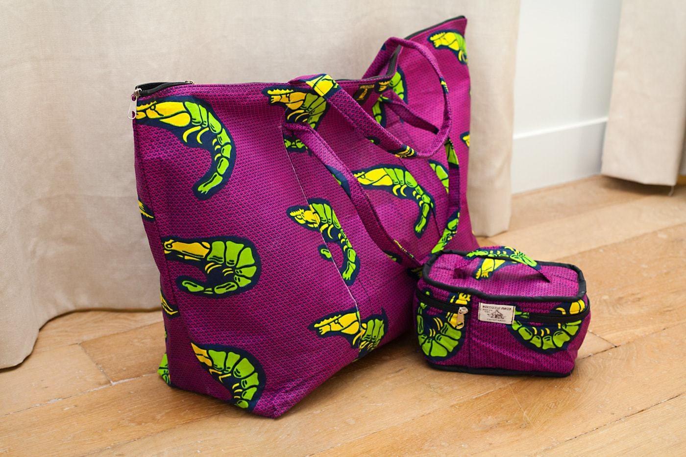 sac en tissu africain week end africouleur. Black Bedroom Furniture Sets. Home Design Ideas