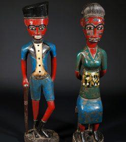 Couple de Colons Maternité Baoulé rouges