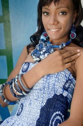 bijoux en wax Africouleur