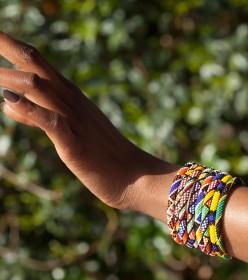bracelet perles d'un mm Africouleur