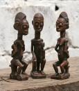 Statuettes de triplés maternité Baoulé