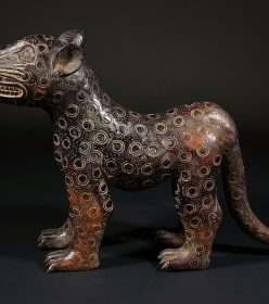 Léopard en bronze femelle de Bénin City au Nigéria