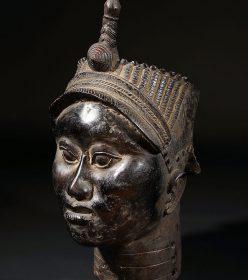 Tête en bronze du Royaume d'Ifé au Nigéria