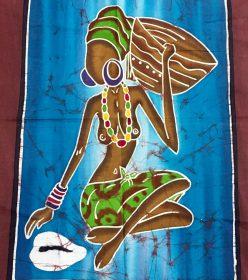 batik dame au cauris