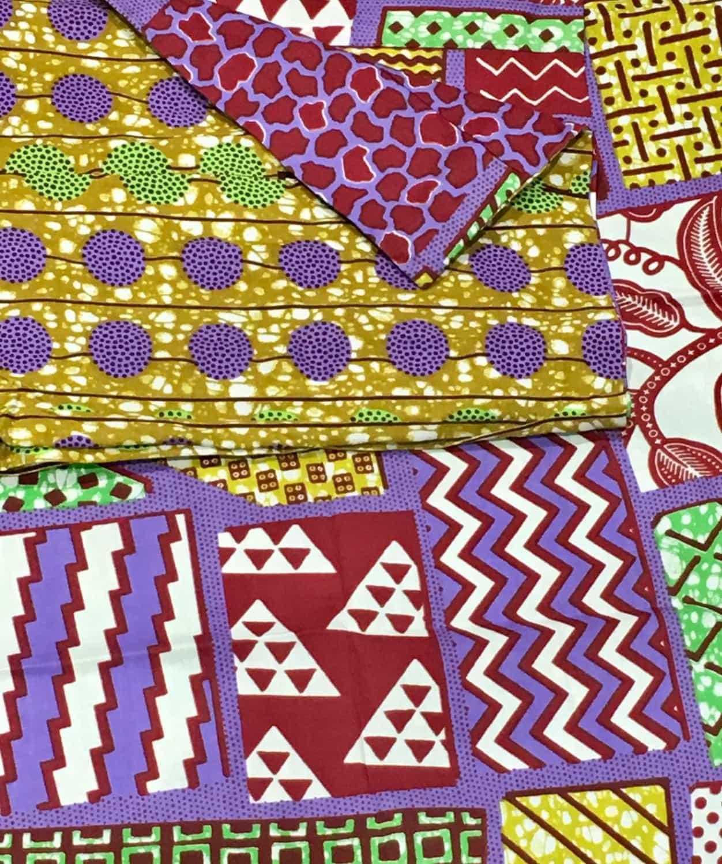 housse de couette en tissu africain wax africouleur. Black Bedroom Furniture Sets. Home Design Ideas