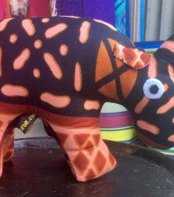 Rhinocéros en wax