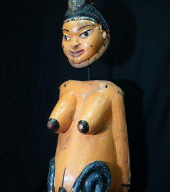 Masque ventral yoruba du Bénin et son masque facial