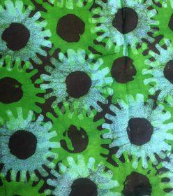 Batik ghanéen vert turquoise marron