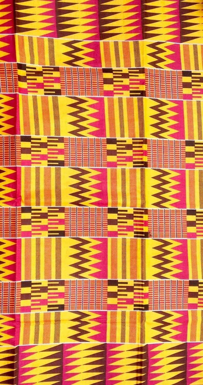 tissu africain marron
