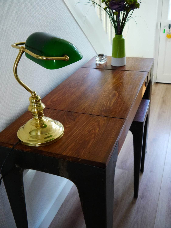 console de bureau gazelle en bois massif et t le brute africouleur. Black Bedroom Furniture Sets. Home Design Ideas