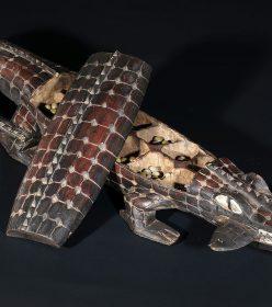 Jeu d'Awalé Crocodile de Côte d'Ivoire