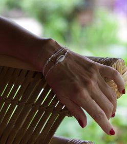 bracelet chaine cauris