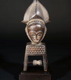 Poulie de métier à tisser Baoulé