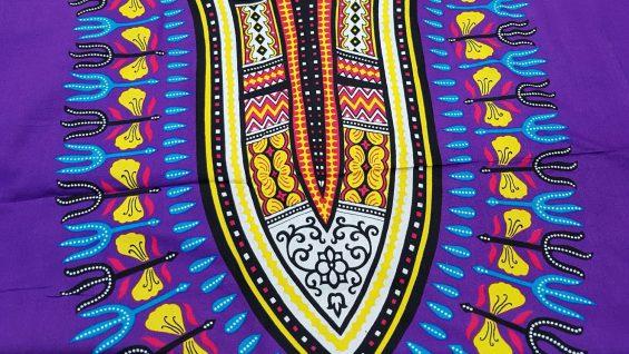 Boubou dashiki unisexe violet