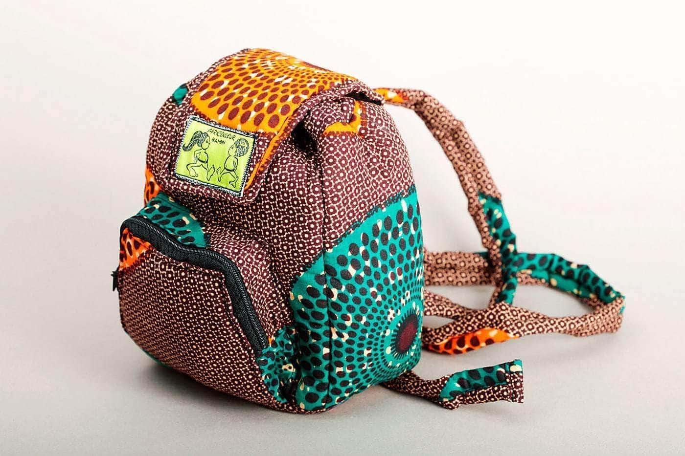 sac dos pour enfant en tissu africain bout 39 chou africouleur. Black Bedroom Furniture Sets. Home Design Ideas