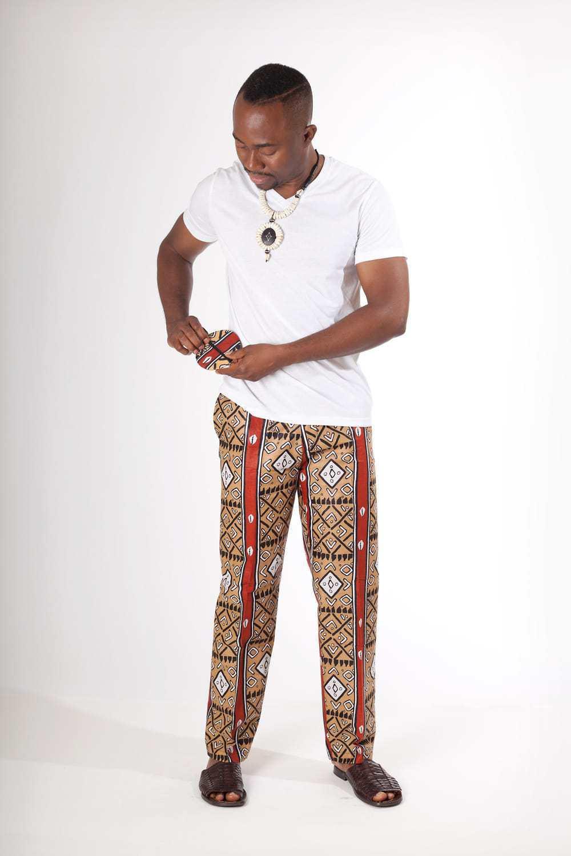 Pantalon africain homme en wax - Africouleur