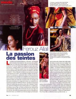 931d4effba05 La passion des teintes de Férouz ALLALI dans « Afrique Magazine »