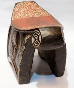 Trône, Siège ou Tabouret africain en bois sculpté - Africouleur