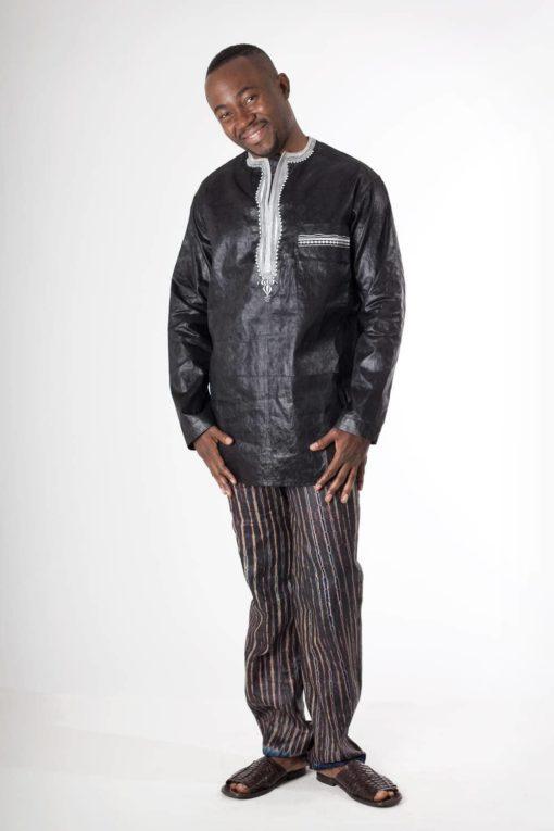 chemise et pantalon homme en bazin