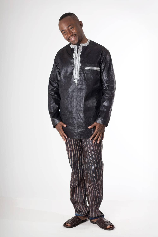 chemise homme africaine en bazin brod e africouleur. Black Bedroom Furniture Sets. Home Design Ideas