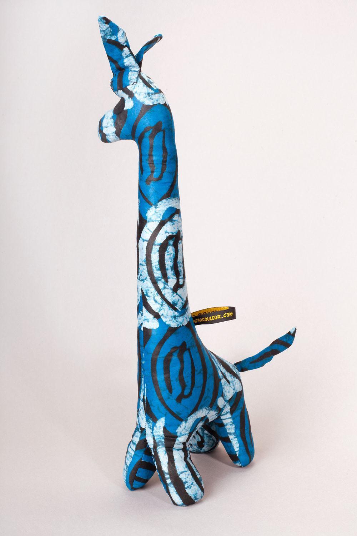girafe en tissu africain zazou africouleur. Black Bedroom Furniture Sets. Home Design Ideas