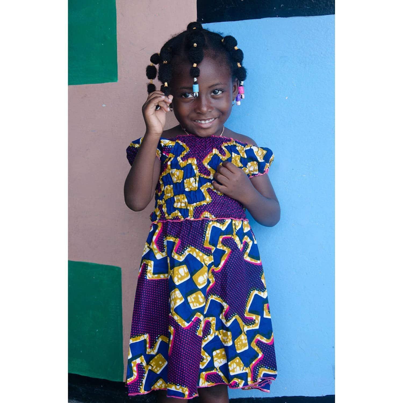 Robe en wax fillette - Africouleur