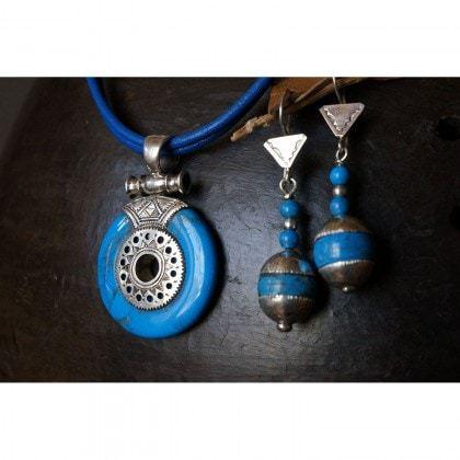 collier touareg et boucles d'oreilles touareg assorties