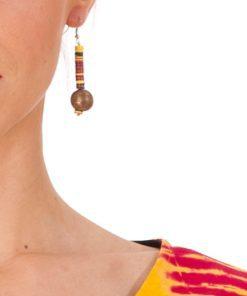 boucle d'oreille bakélite feu bronze
