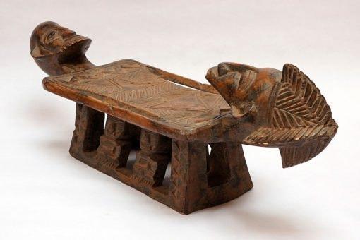 Siège-Tabouret africain dogon du Mali en bois sculpté - Africouleur