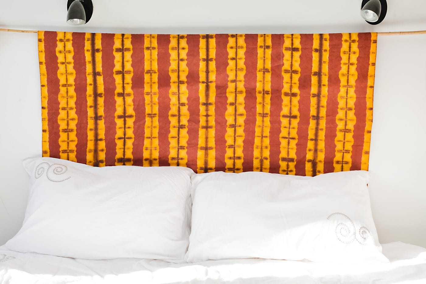 Tete De Lit Ethnique tête de lit en tissu africain bazin