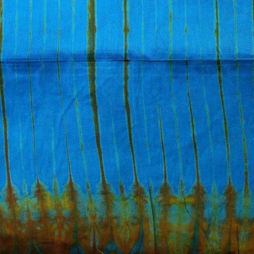Bazin turquoise ocre étoffe