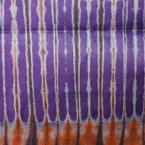 bazin Violet orange gris étoffe