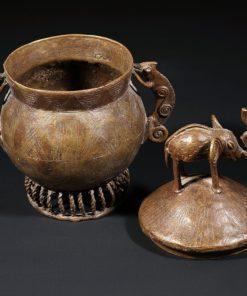 Boite à bijoux Ashanti du Ghana en bronze