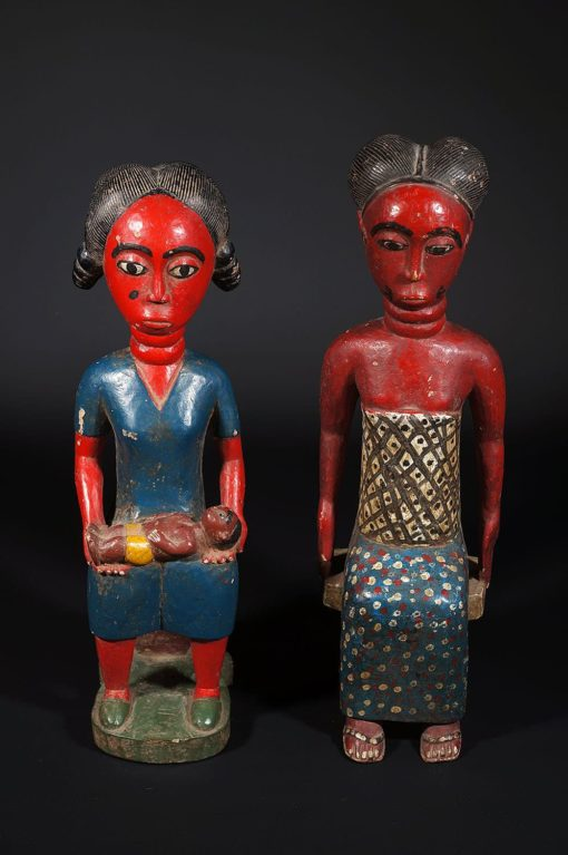 Couple de Colons Maternité Baoulé rouges
