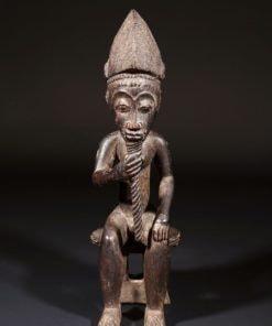 Statuette africaine de vieux sage Baoulé