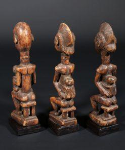 Statuettes de triplés Baoulé de Côte d'Ivoire