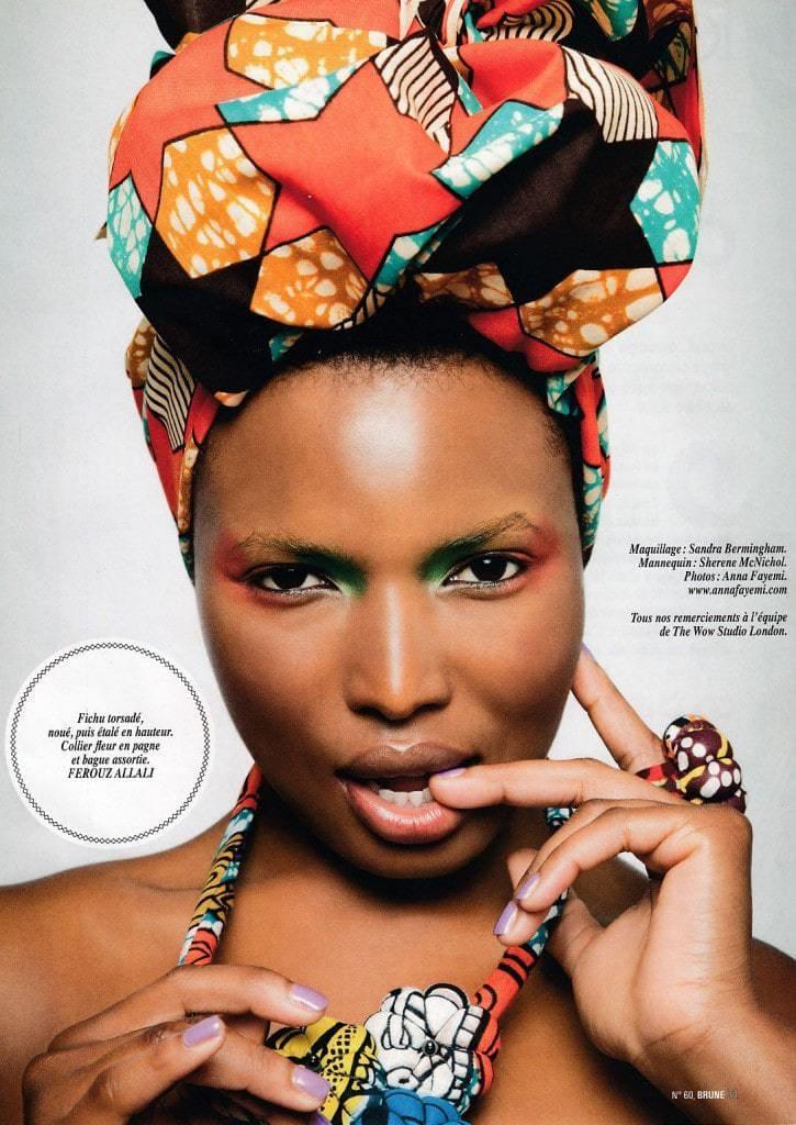 7241d5775961 Nos bijoux et foulards africains colorés dans Brune  60 - Africouleur