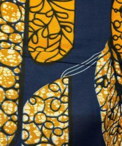 Wax bleu orange blanc style vitraux