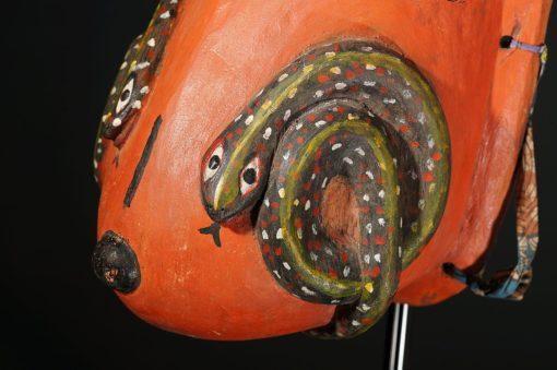 Masque ventral gélédé Yoruba du Bénin