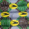 Wax vert blanc jaune hirondelles noires